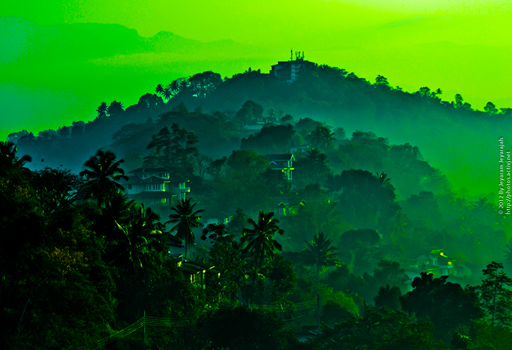 Kandy on a misty morning